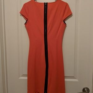 Hot zipper-feature coral Kenneth Cole dress